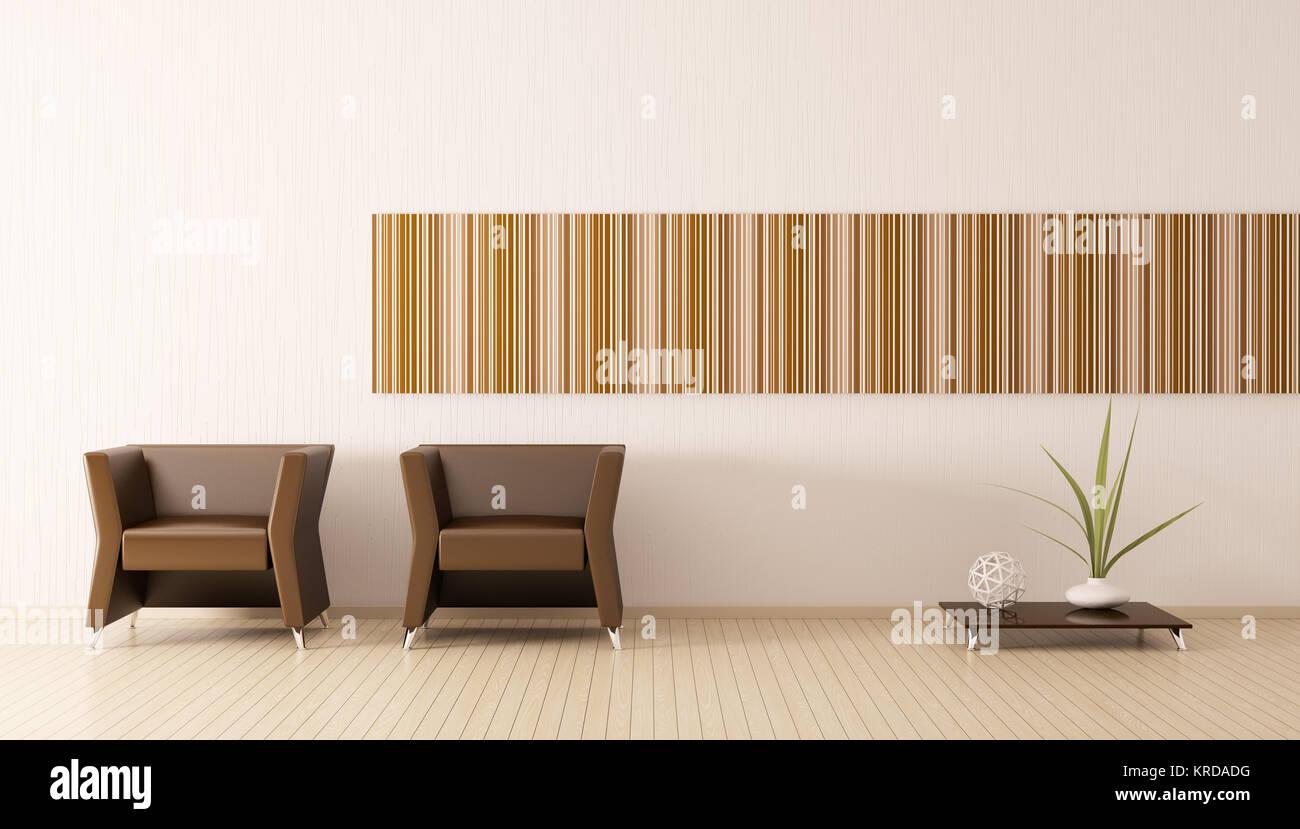 Beeindruckend Brauner Sessel Sammlung Von Modernes Interieur Des Zimmers Mit Braunen 3d