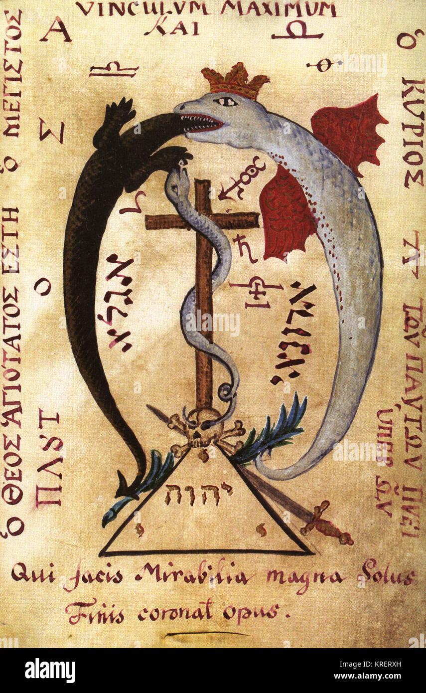 Red Winged Dragon trägt eine goldene Krone verschlingende eine Eidechse Stockbild