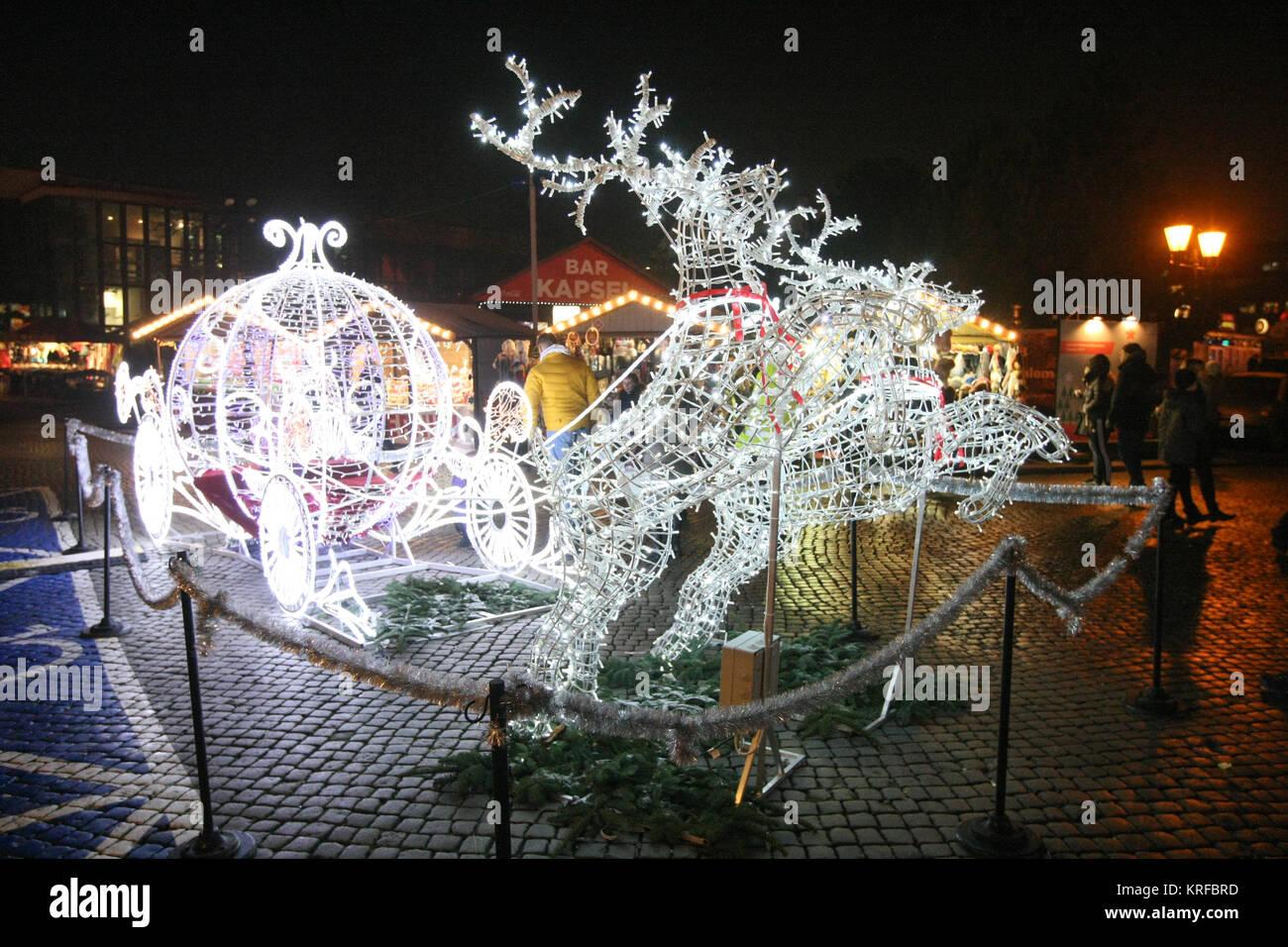 Weihnachtsgeschenke Lebensmittel.Danzig Polen 19 Dezember 2017 Weihnachtsmarkt In Danzig Gesehen