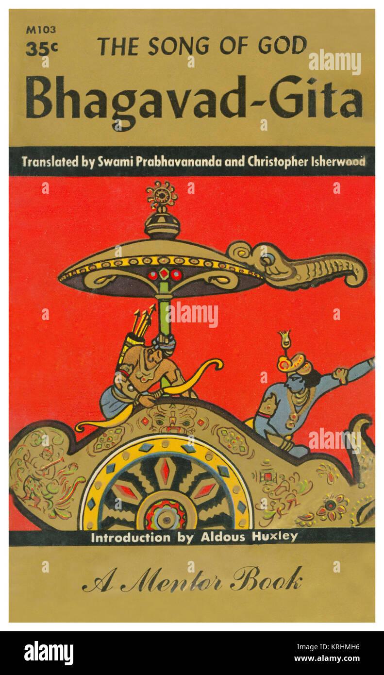 Das Lied von Gott bhagavad-gita Stockbild