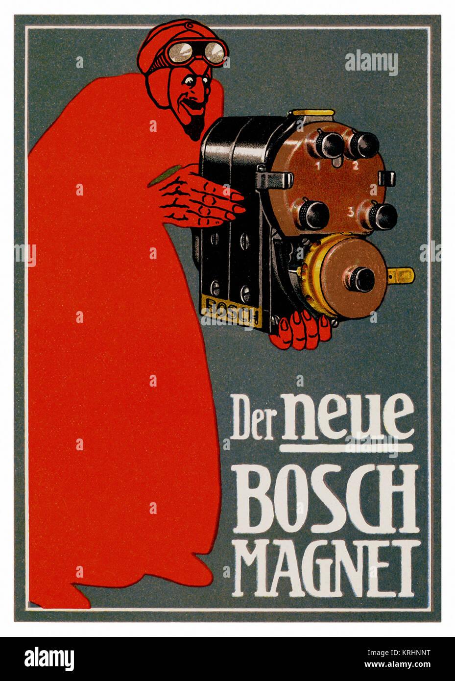 Neue Bosch Motor Magnet Stockbild