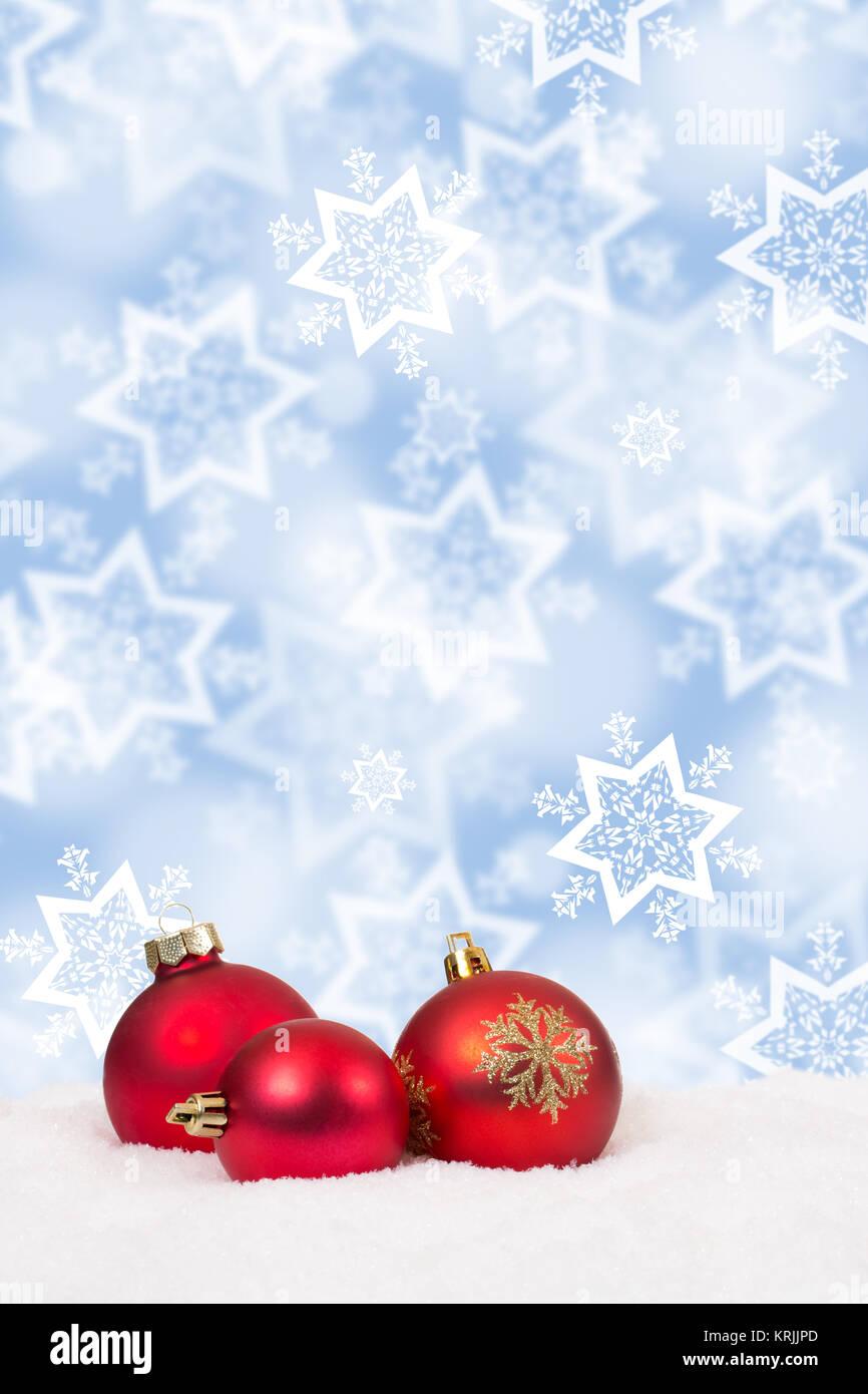 Rote Weihnachtskugeln Weihnachten Hintergrund Weihnachtskarte ...
