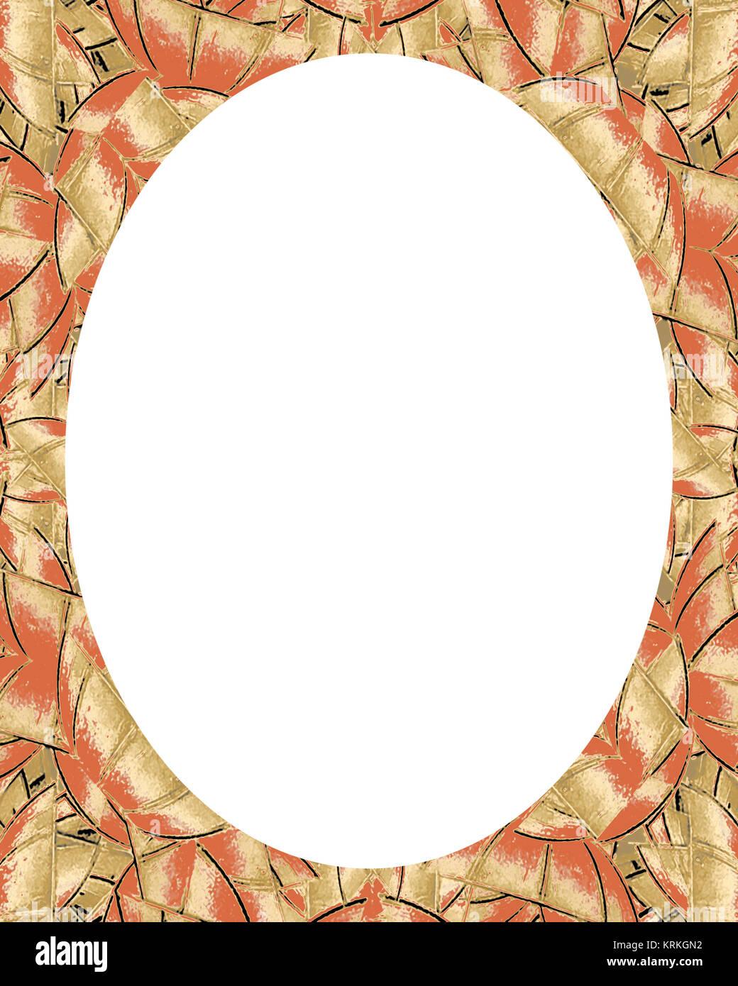 Kreis Rahmen Hintergrund mit verzierten Grenzen Stockfoto, Bild ...