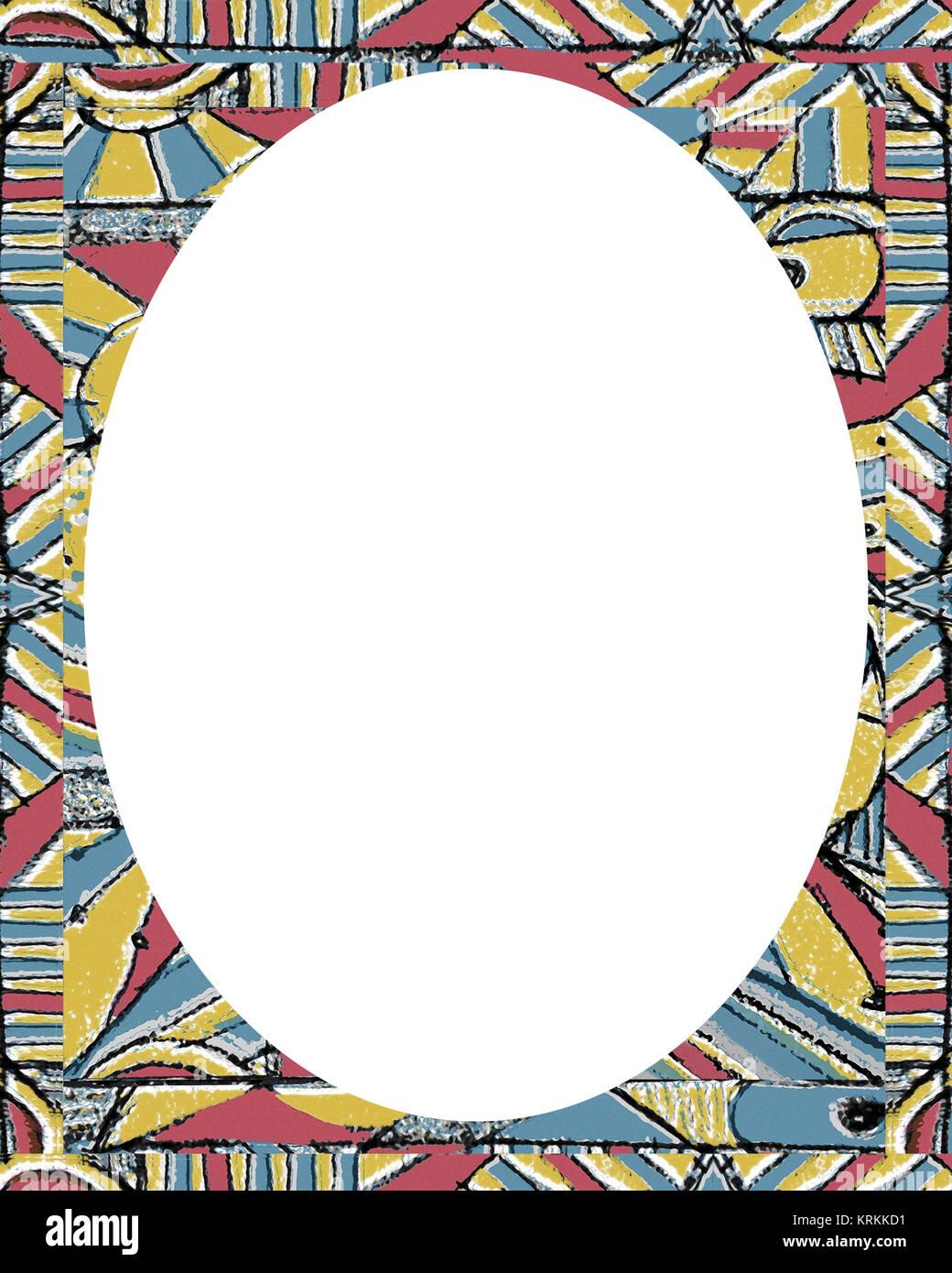 Kreis Rahmen Hintergrund mit farbigen Grenzen Stockfoto, Bild ...