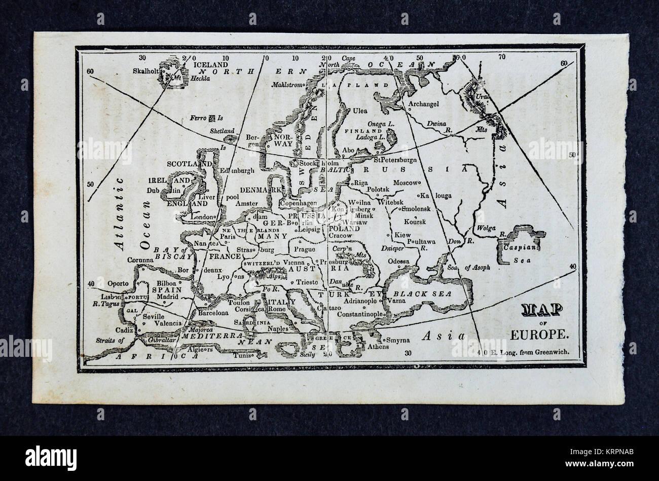Karte Schweden Dänemark Deutschland.Historische Karte Von Kopenhagen Dänemark 19 Jahrhundert Stockfotos