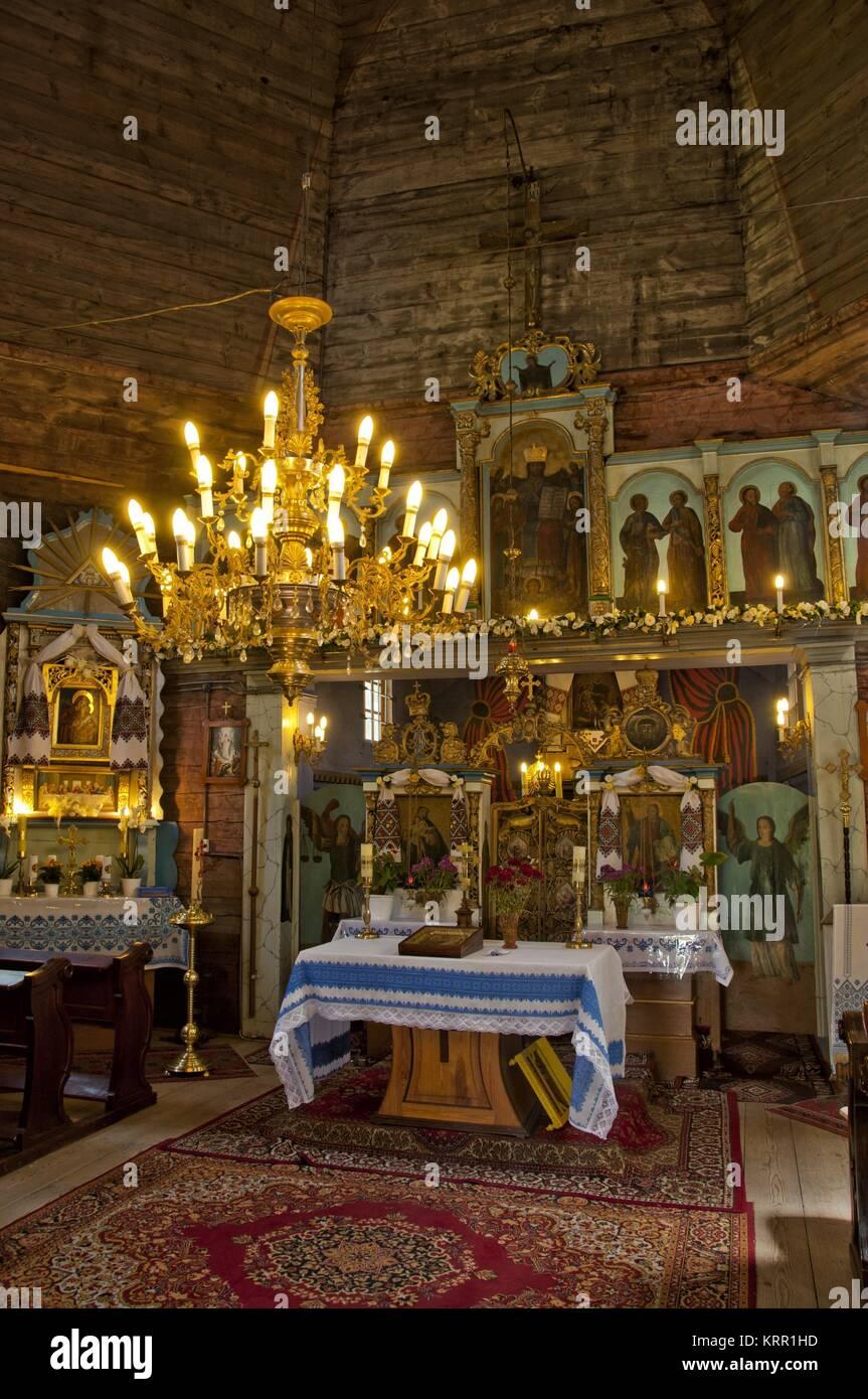 17 Jahrhundert Bild Architektur: Kirche St. Nikolaus Aus Dem 17. Jahrhundert In Hrebenne