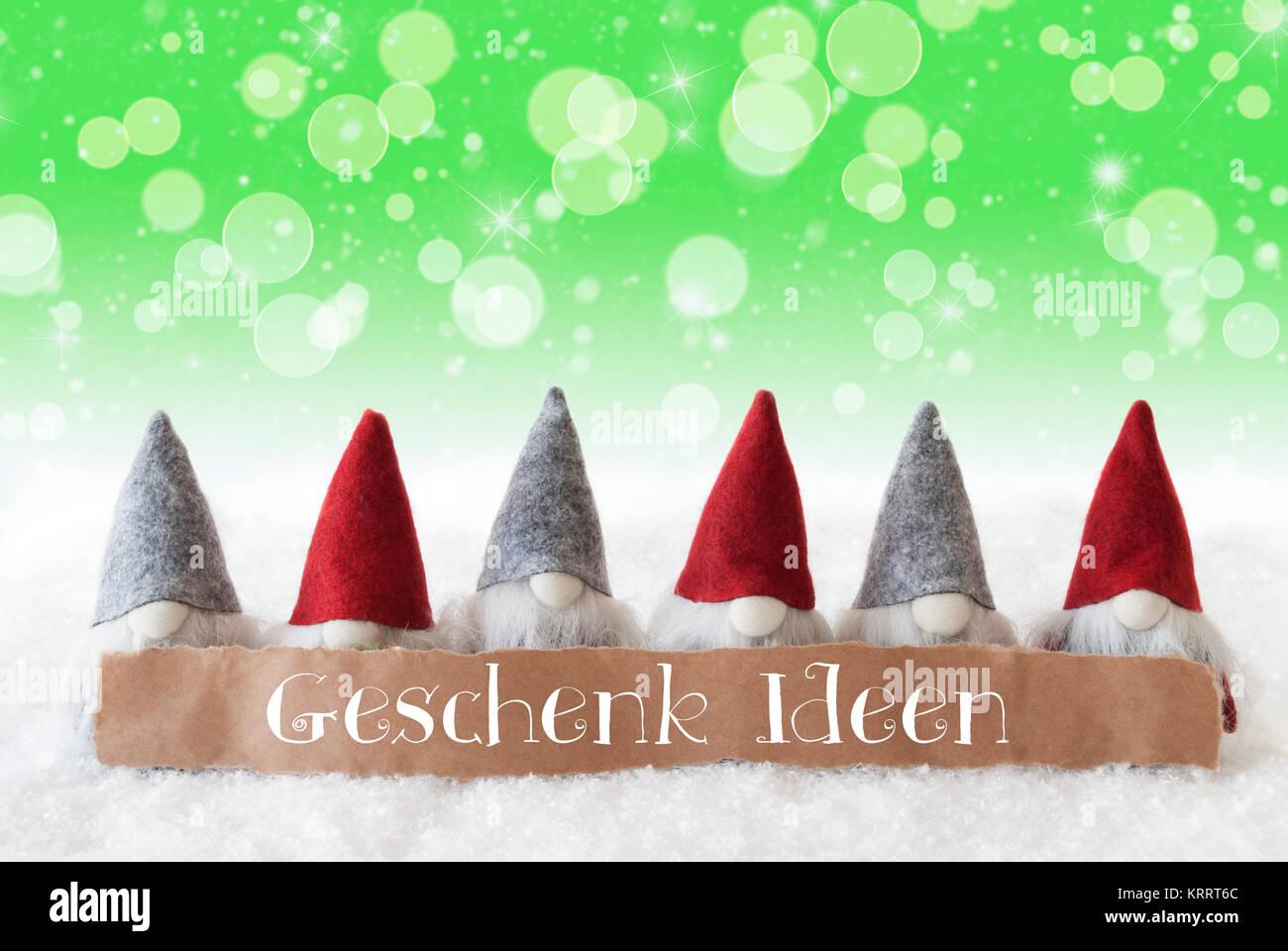 Etikett mit deutschem Text Geschenk Ideen bedeutet Geschenk Ideen ...
