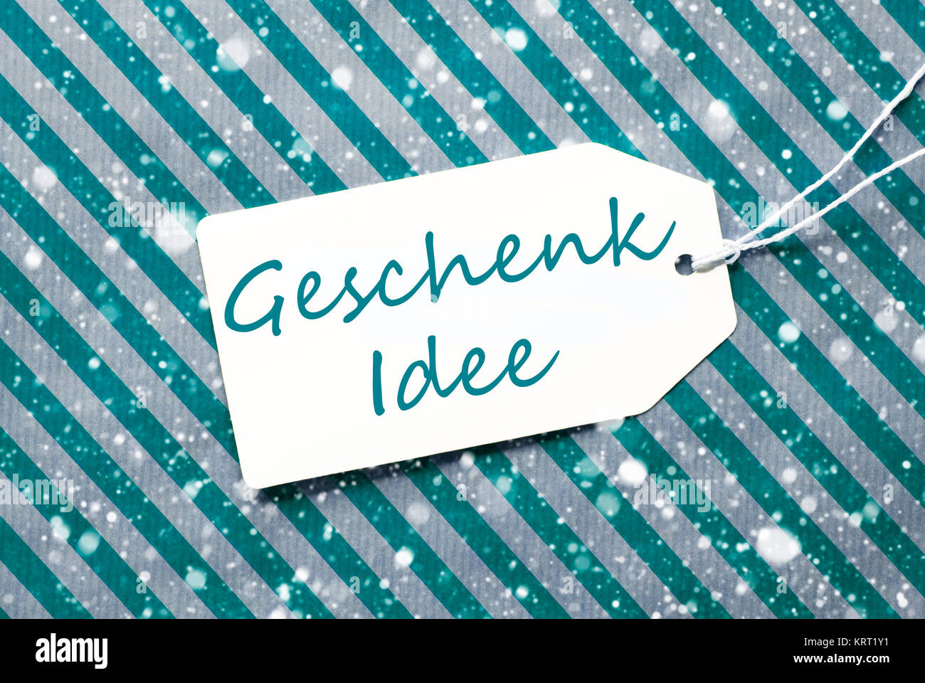 Deutsche Text Geschenk Idee bedeutet Geschenk Idee. Ein Etikett auf ...
