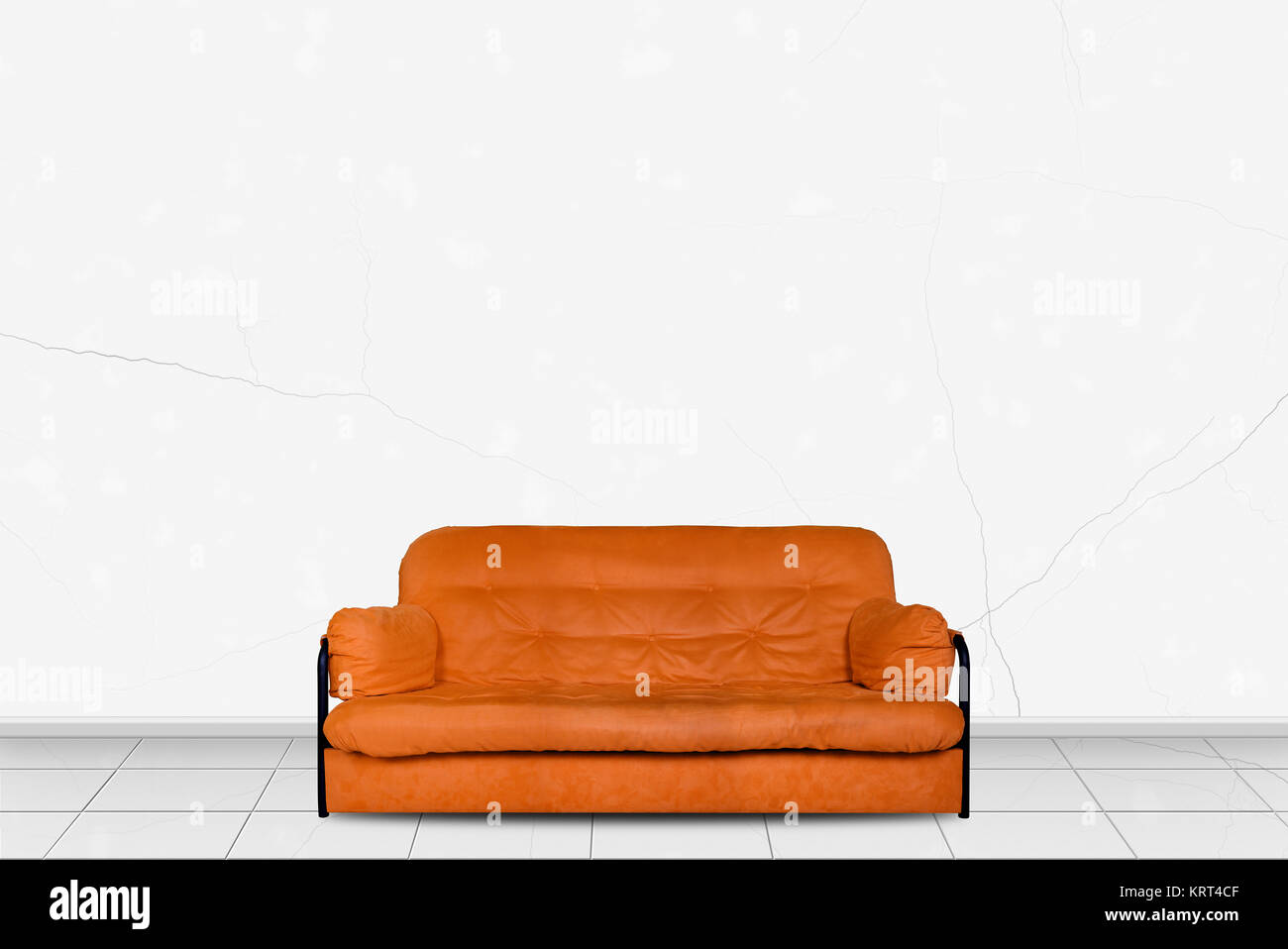 Polstermöbel In Home Interior Orange Moderne Divan Sofa Stoff Vor