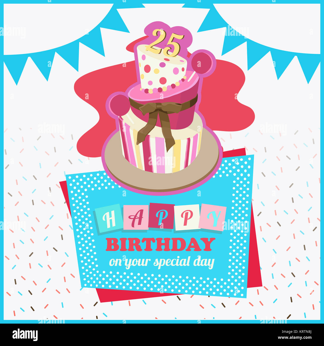 Bunte Happy Birthday Greeting Card