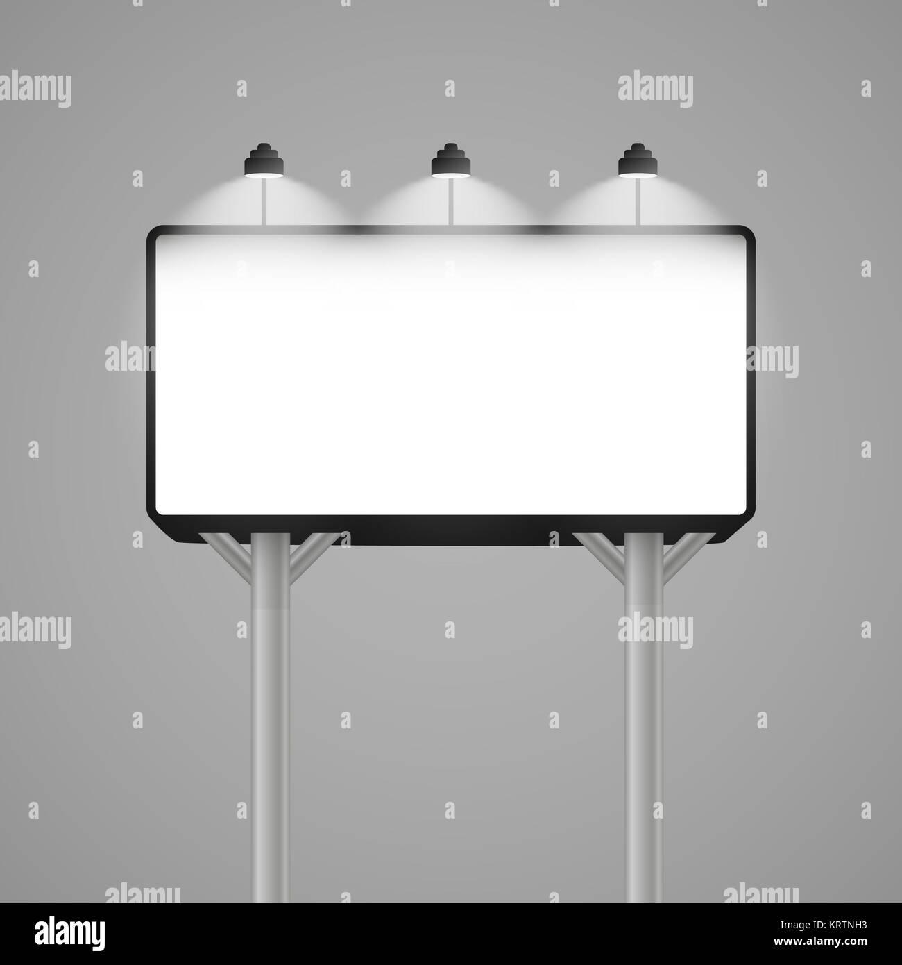 Reklametafeln mockup. Vector Illustration EPS 10. Stockbild