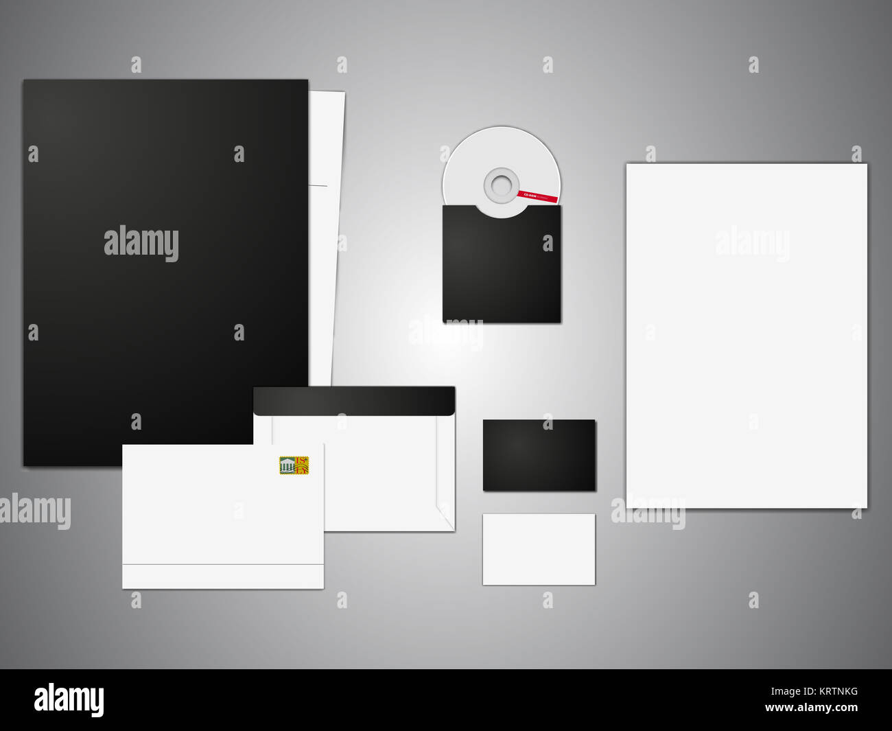 Branding Mockup. Vector Illustration EPS 10. Stockbild