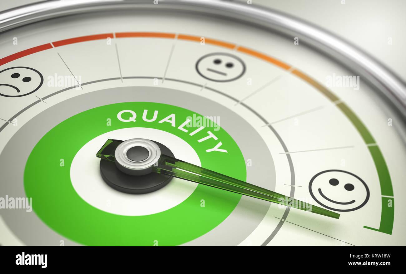 Unternehmen Metriken, Messung der Kundenzufriedenheit Stockbild