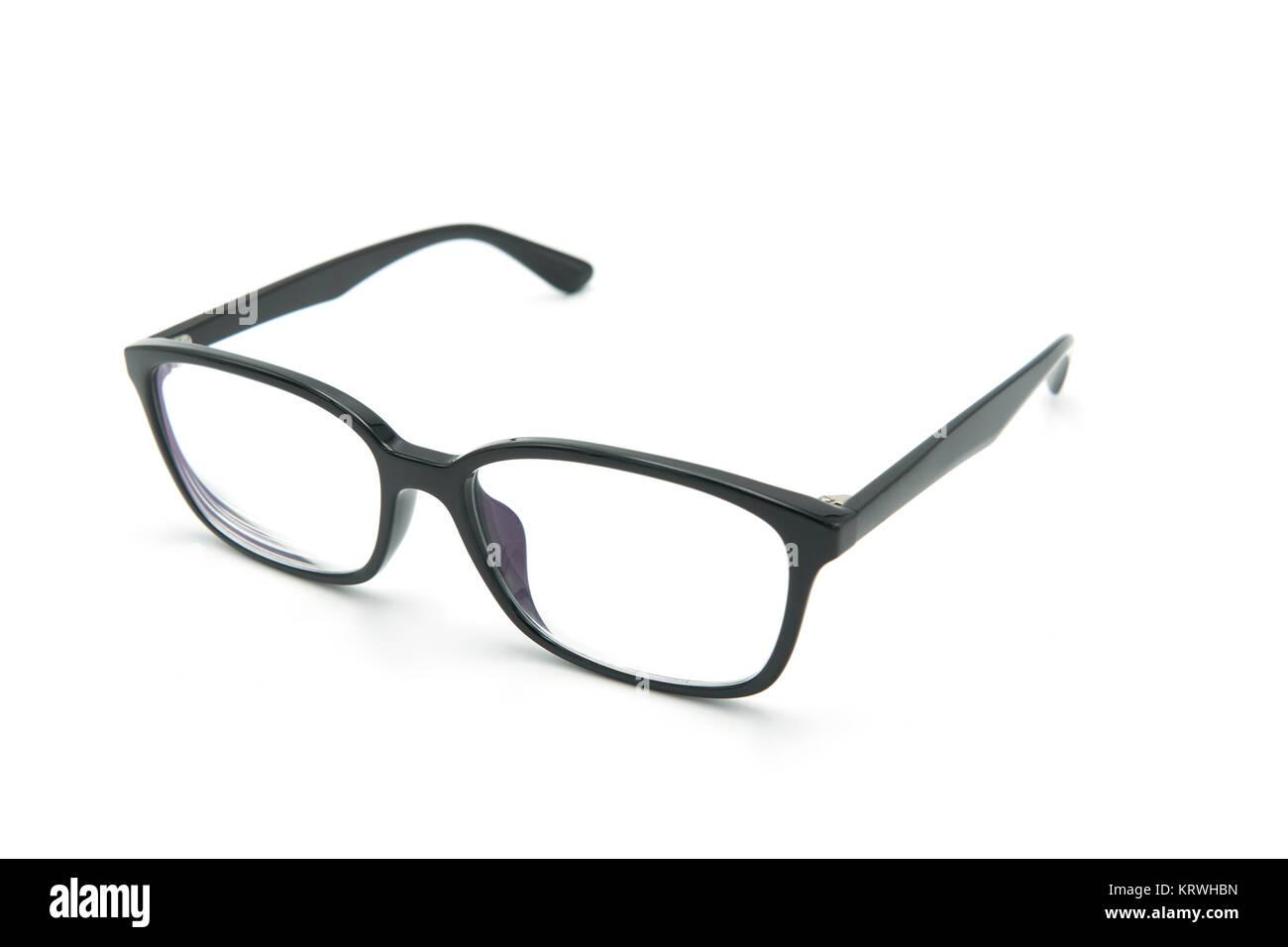 Schwarze Brillen Brillen mit glänzenden schwarzen Rahmen für das ...