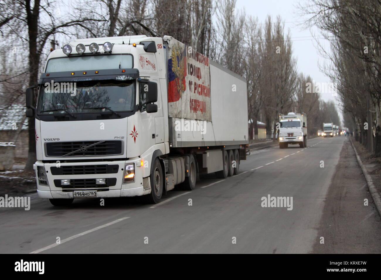 Donezk, Ukraine - Dezember 21, 2017: Lkw der Russischen ...