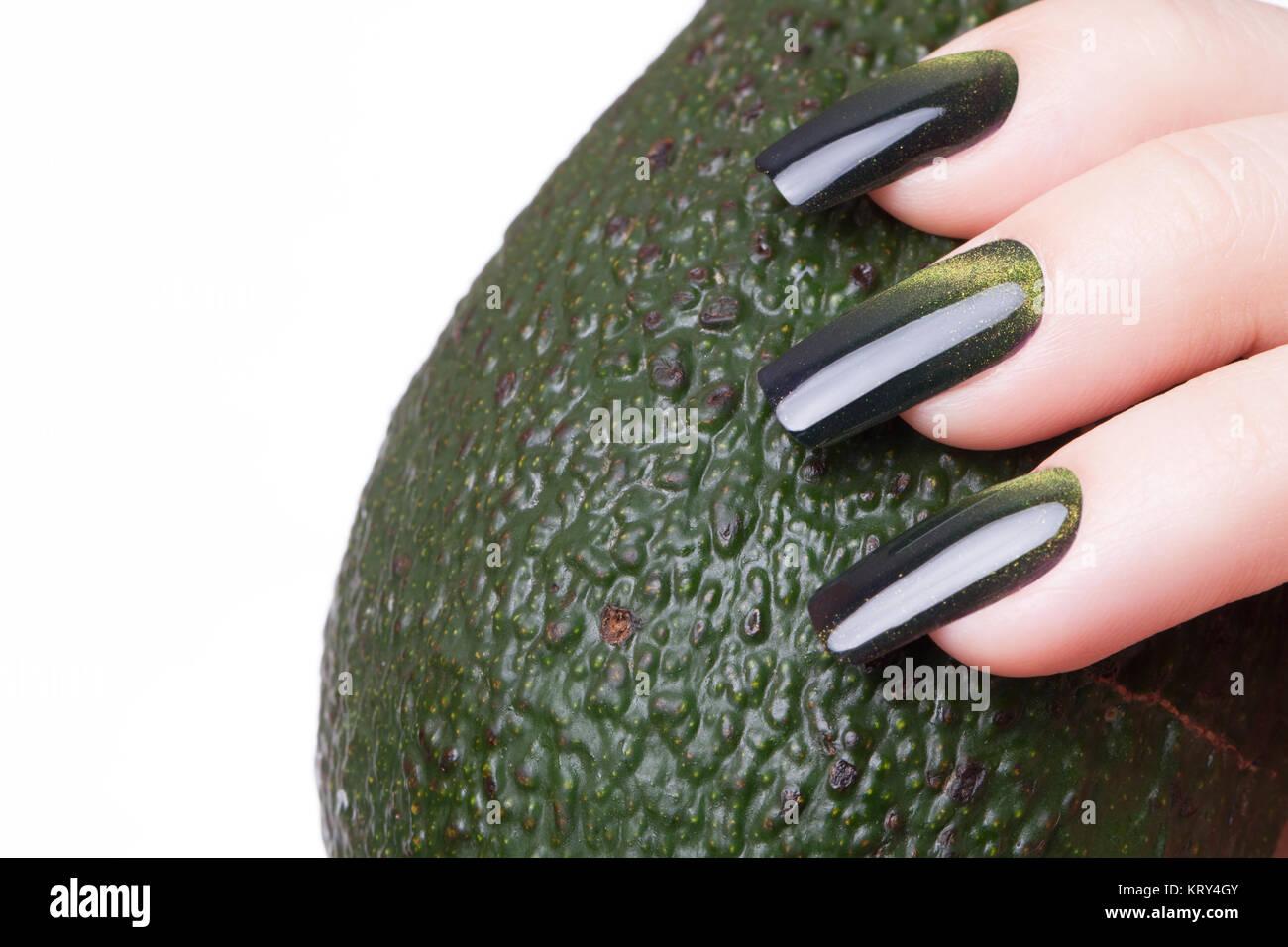 gr ner nagellack stockfoto bild 169626715 alamy. Black Bedroom Furniture Sets. Home Design Ideas