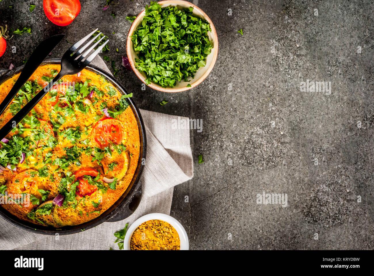 Indische Küche Rezepte, Masala Omelett mit frischem Gemüse - Tomate ...