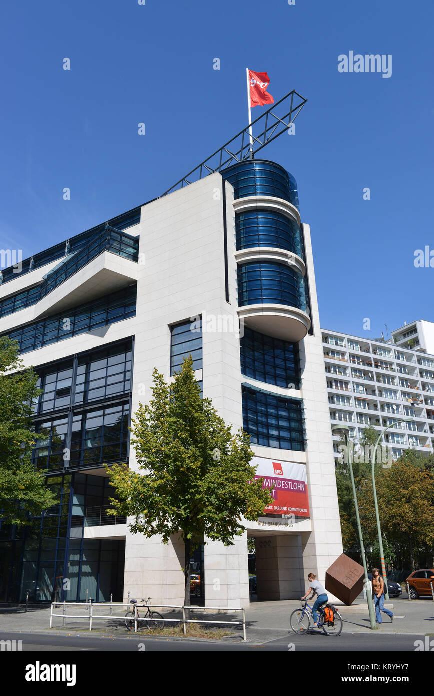 SPD-Zentrale, Wilhelmstraße, Kreuzberg, Berlin, Deutschland, SPD-Zentrale, Kreuzberg, Deutschland Stockbild