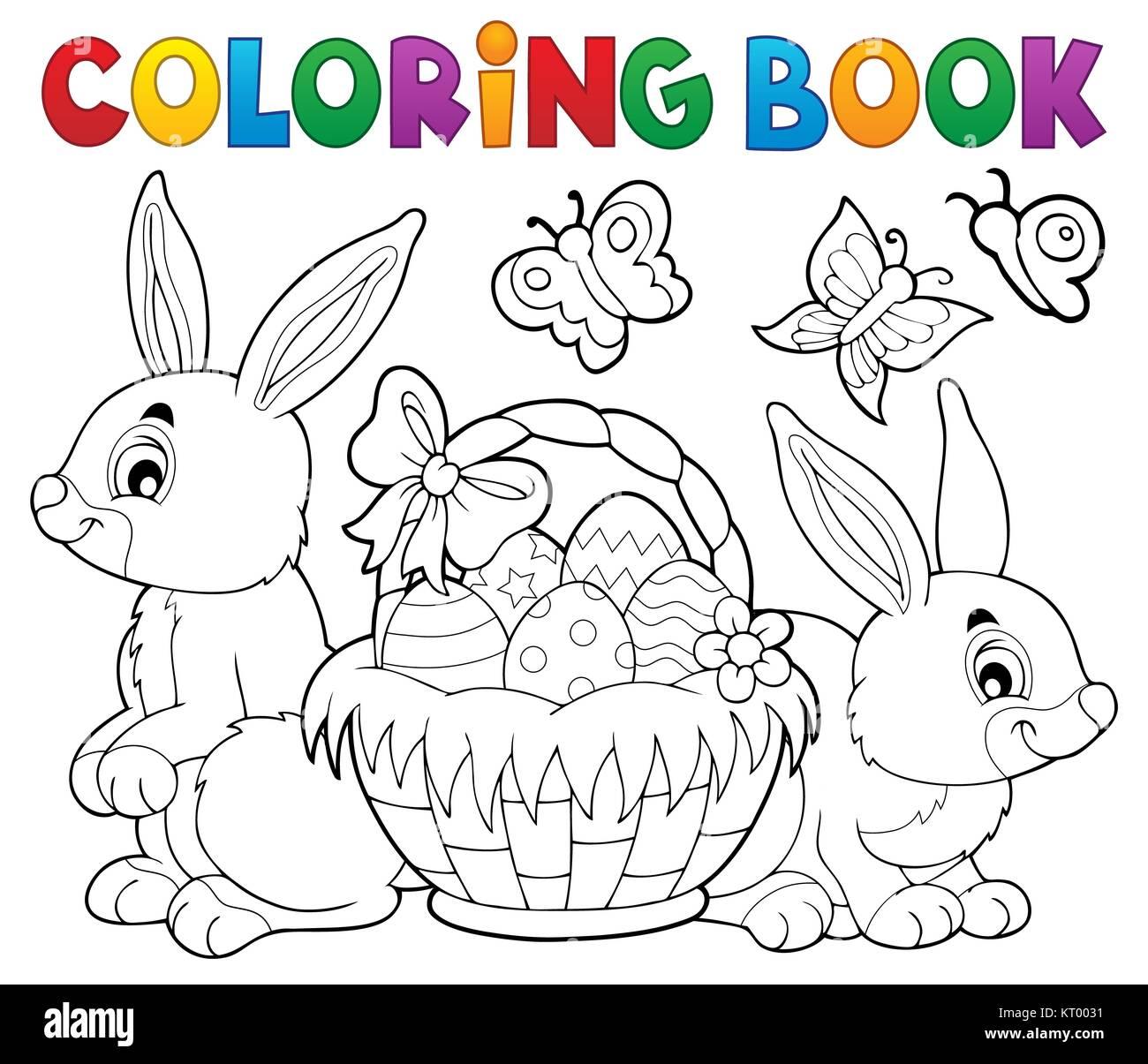 Malvorlagen Ostern Korb und Kaninchen Stockfoto, Bild: 169645141 - Alamy