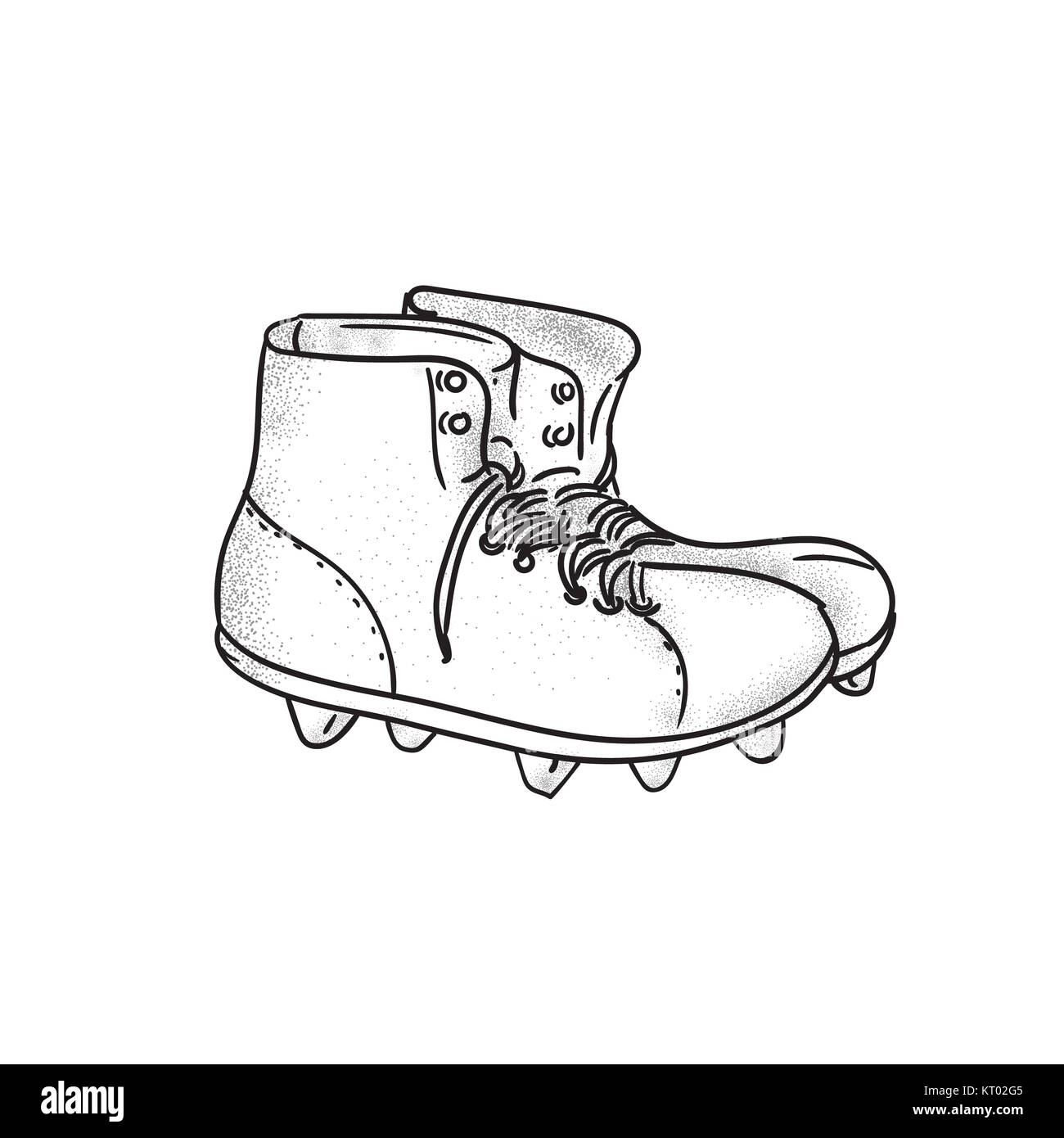 Vintage Football Boots Stockfotos & Vintage Football Boots