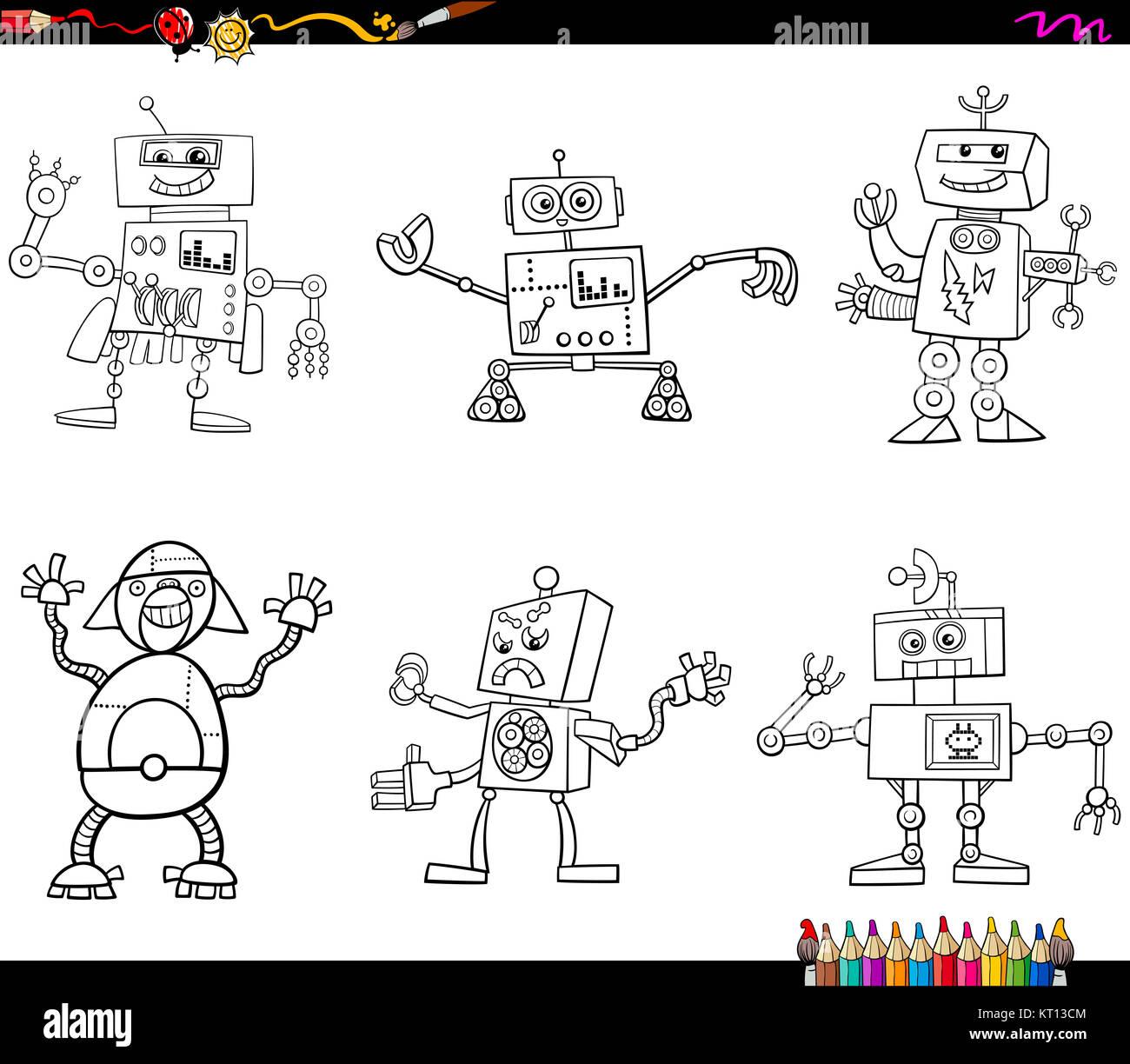 Fantasy Characters Coloring Page Stockfotos & Fantasy Characters ...