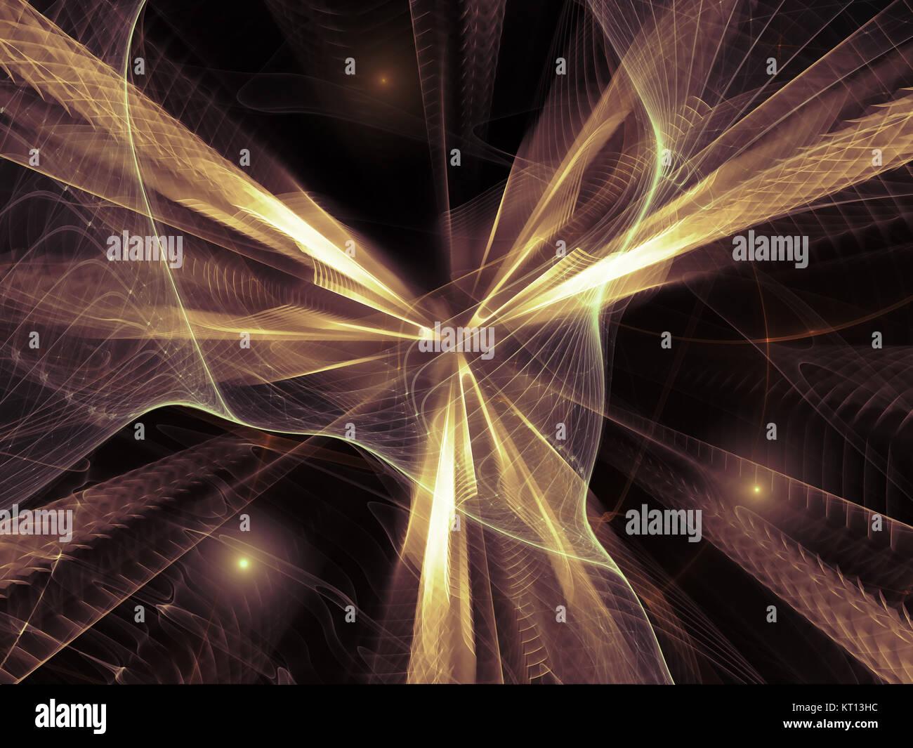 Digitale Fractal Feld Stockbild