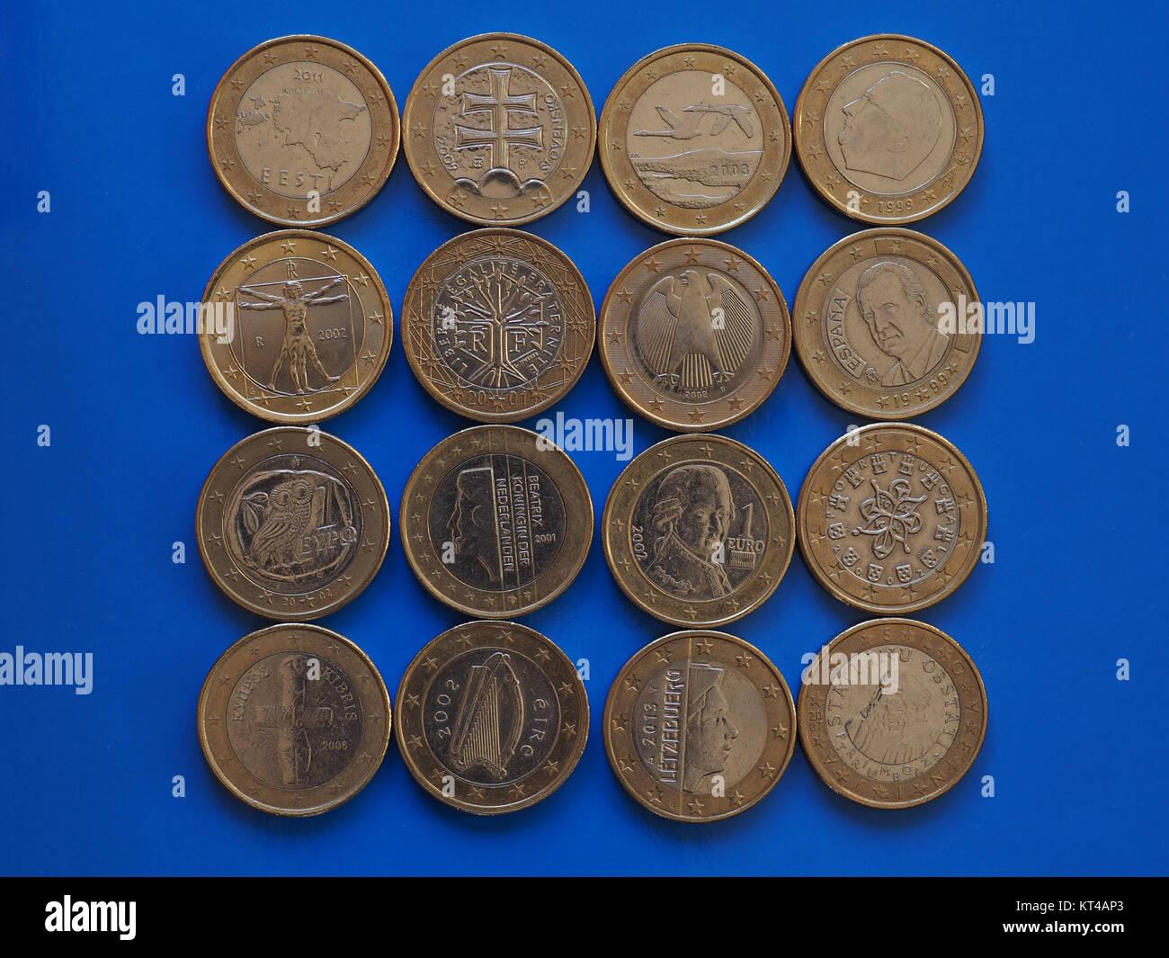 1 Euro Münze Europäische Union Stockfoto Bild 169741323 Alamy