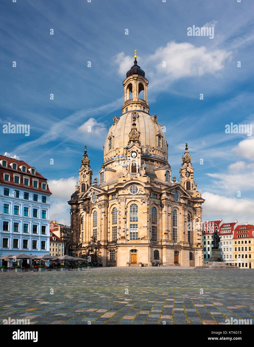 Frauenkirche in Dresden, Sachsen, Deutschland Stockbild
