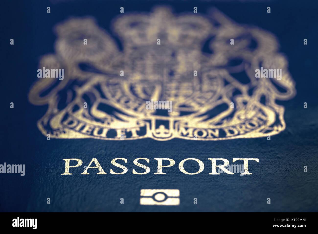 London Großbritannien 23 Dez 2017 Blauen Britischen Pass In