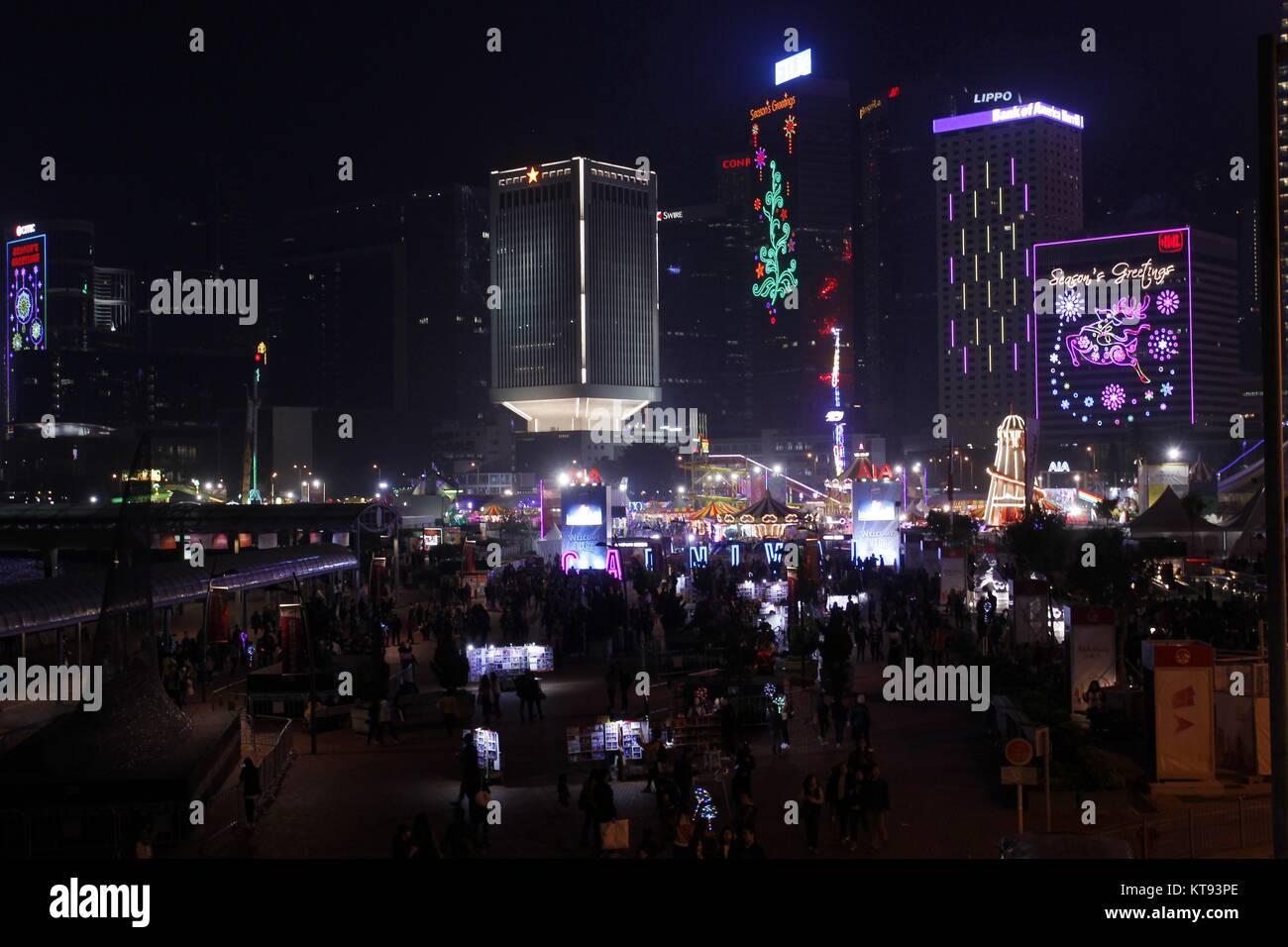 Weihnachtsfeier Zirkus.Hongkong China 23 Dez 2017 Zirkus Ist Für Die Weihnachtsfeier Im