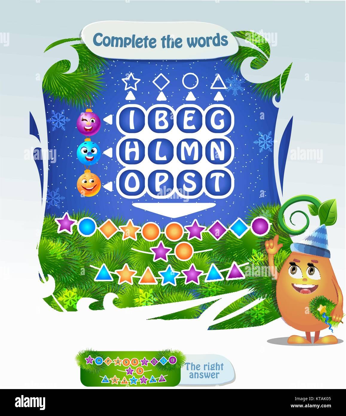 worte puzzle lernspiel f252r kinder aufgabe vollst228ndige