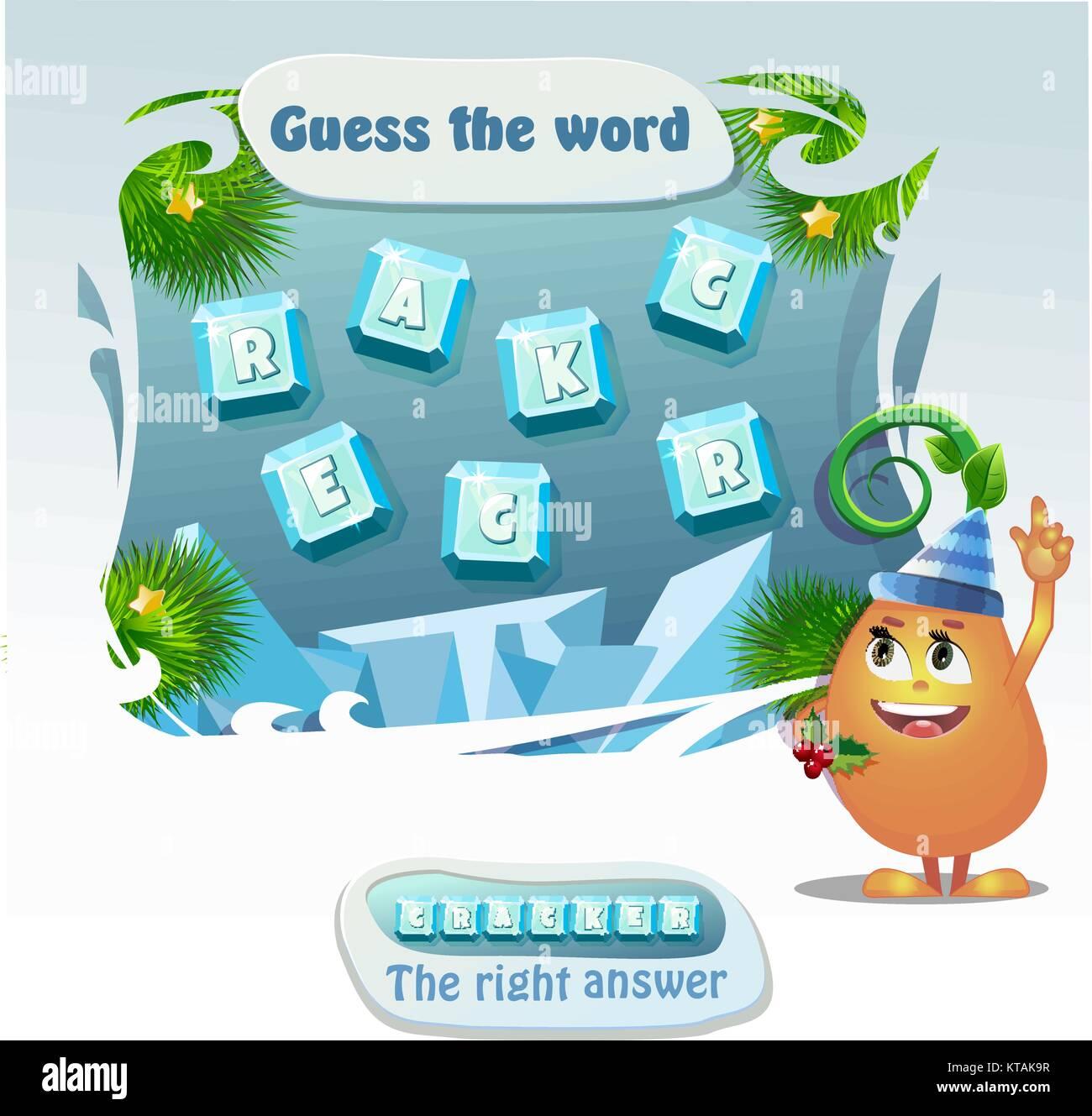 Worte puzzle pädagogische Weihnachten Spiel für Kinder und ...