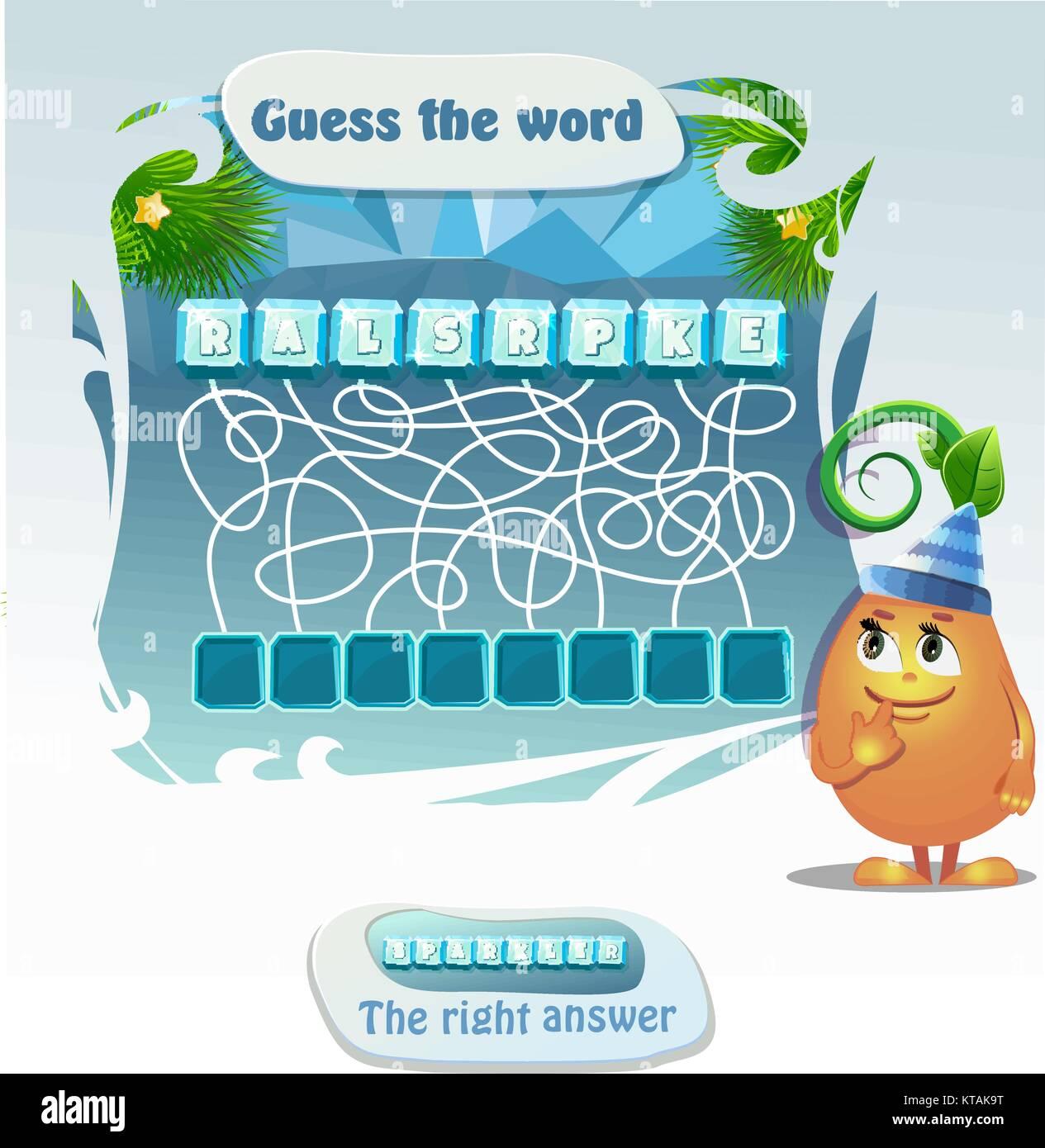 Worte Puzzle Pädagogische Weihnachten Spiel Für Kinder Und