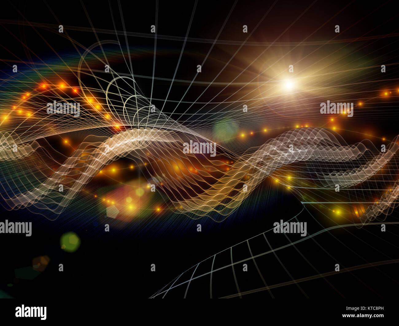 Konzeptionelle Informationsstrom Stockbild