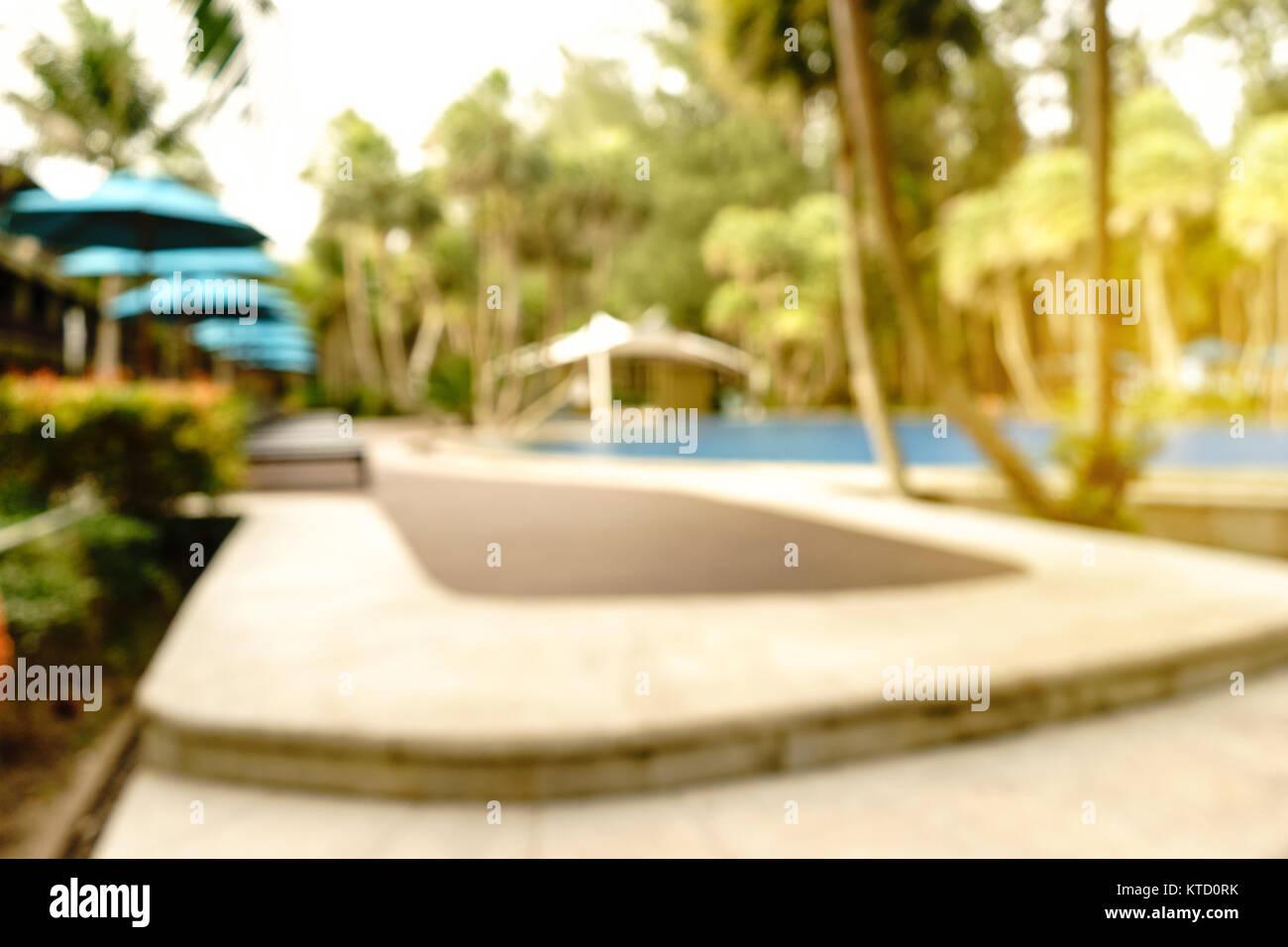 Abstract Garden Swimming Pool Stockfotos Abstract Garden