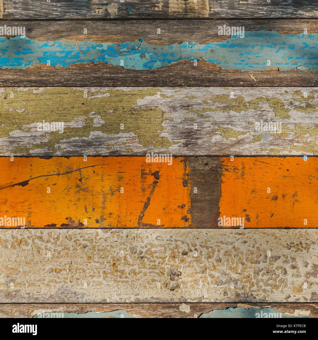 Alte Holz Tafel Mit Verschiedenen Hellen Farben Gemalt Stockfoto