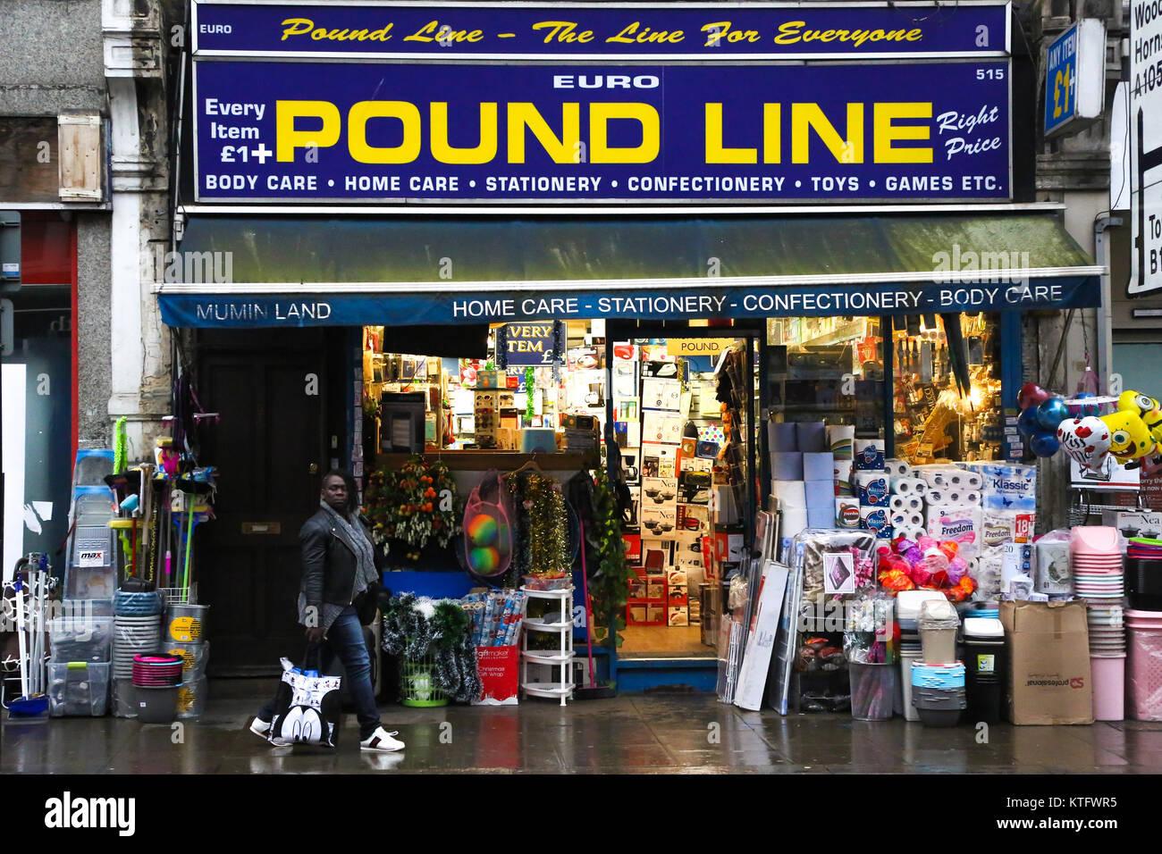 Harringay. North London. UK 25 Dez 2017-lbs-Linie auf Green Lanes in ...