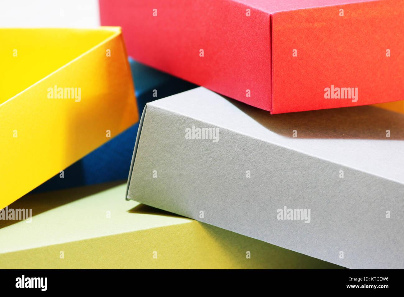 Paar Bunte Papier Schachteln Mit Bunten Karton Für Die