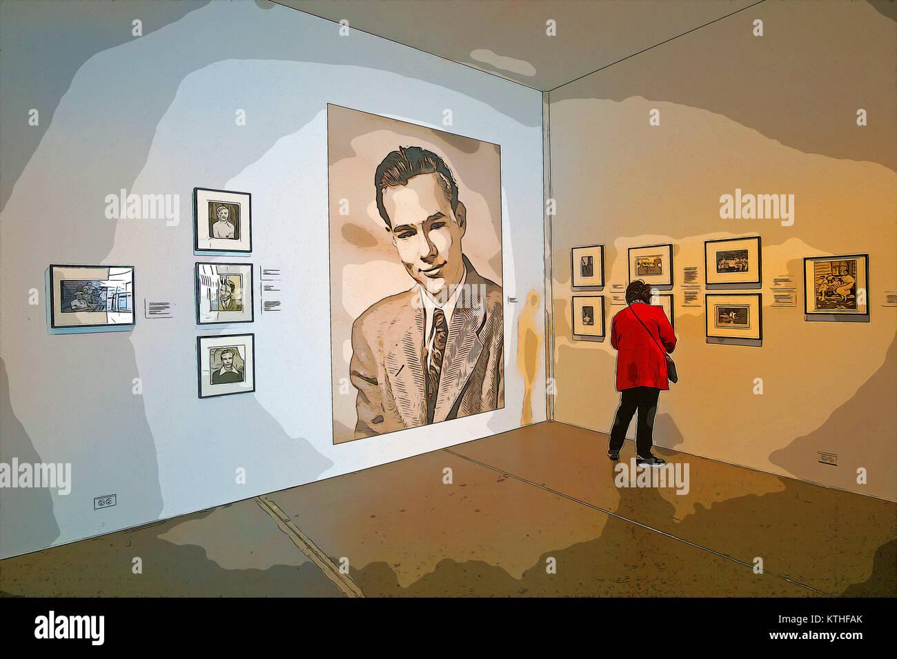 Photoshop Behandlung Von Einem Zuschauer Bei Warhol Familie Fotos An