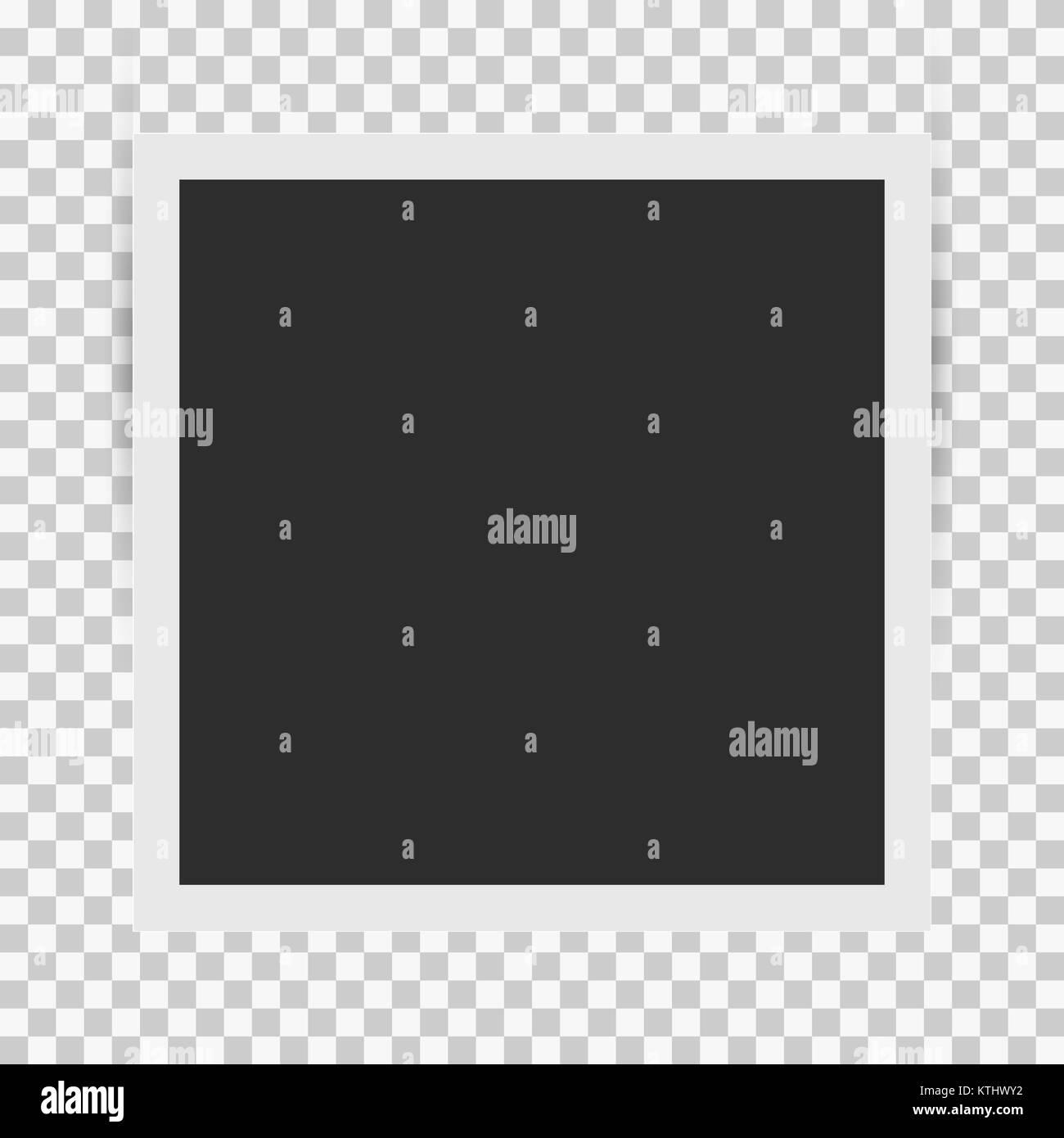 Square Retro Bilderrahmen Vorlage mit realistischen Schatten Vektor ...