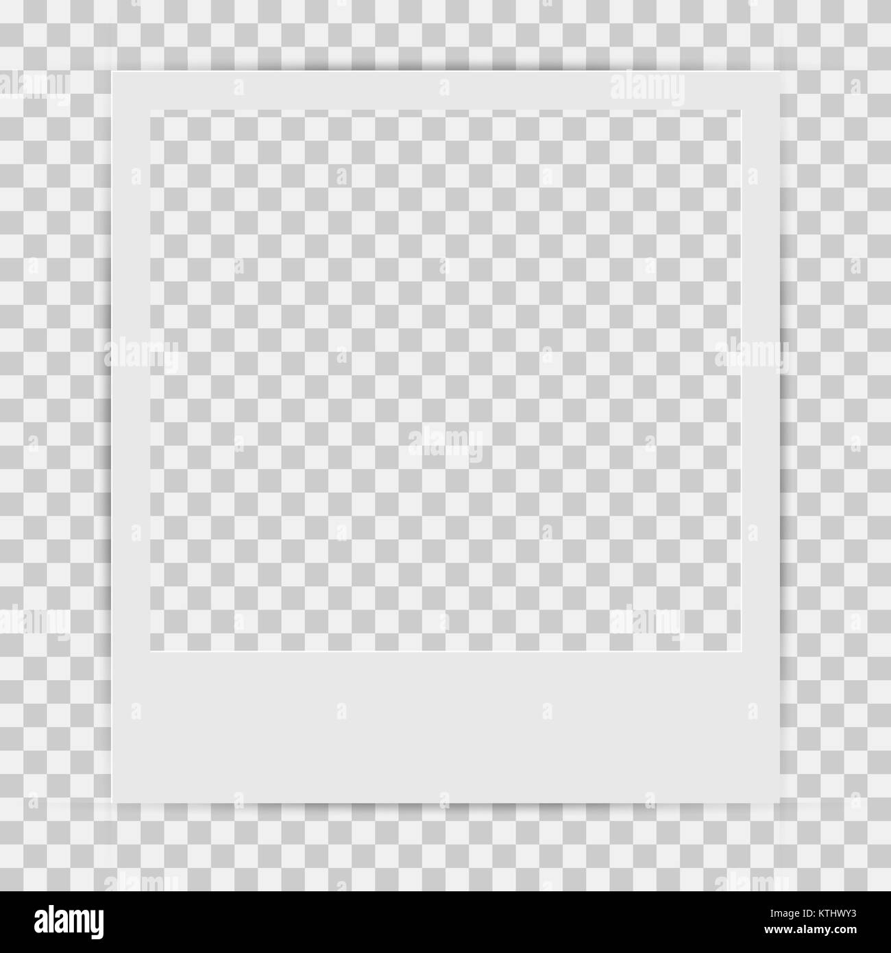 Leeres Quadrat Retro Bilderrahmen Vorlage mit realistischen Schatten ...