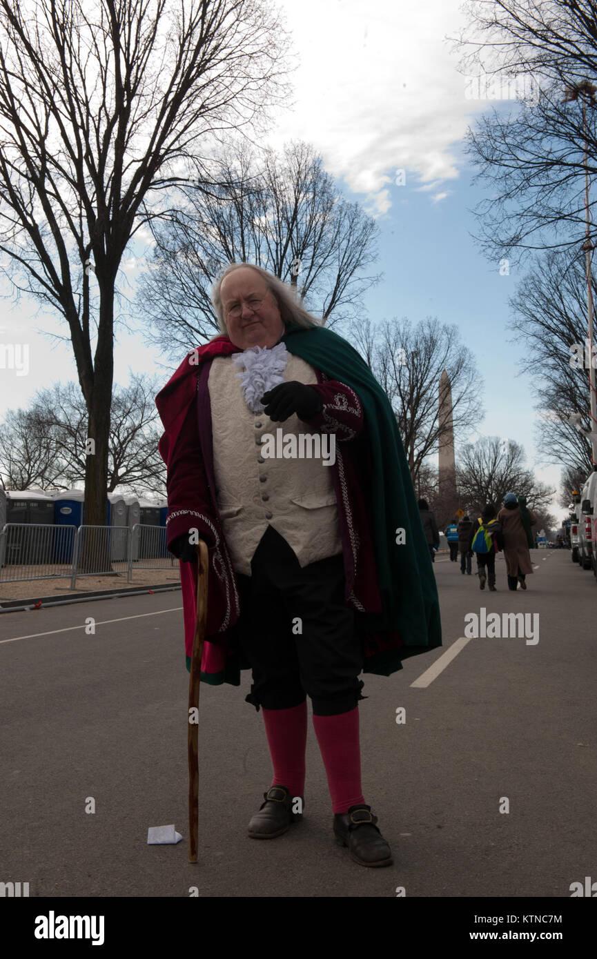"""WASHINGTON, D.C. -- Mickey Scroggins geht"""", wo Benjamin Franklin ist erforderlich"""", sagt der Selbständige historische Stockfoto"""