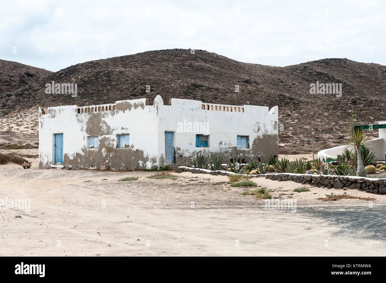 Haus in Casas de Pedro Barba, La Graciosa, Chinijo Archipel, Kanarische Inseln, Spanien Stockbild