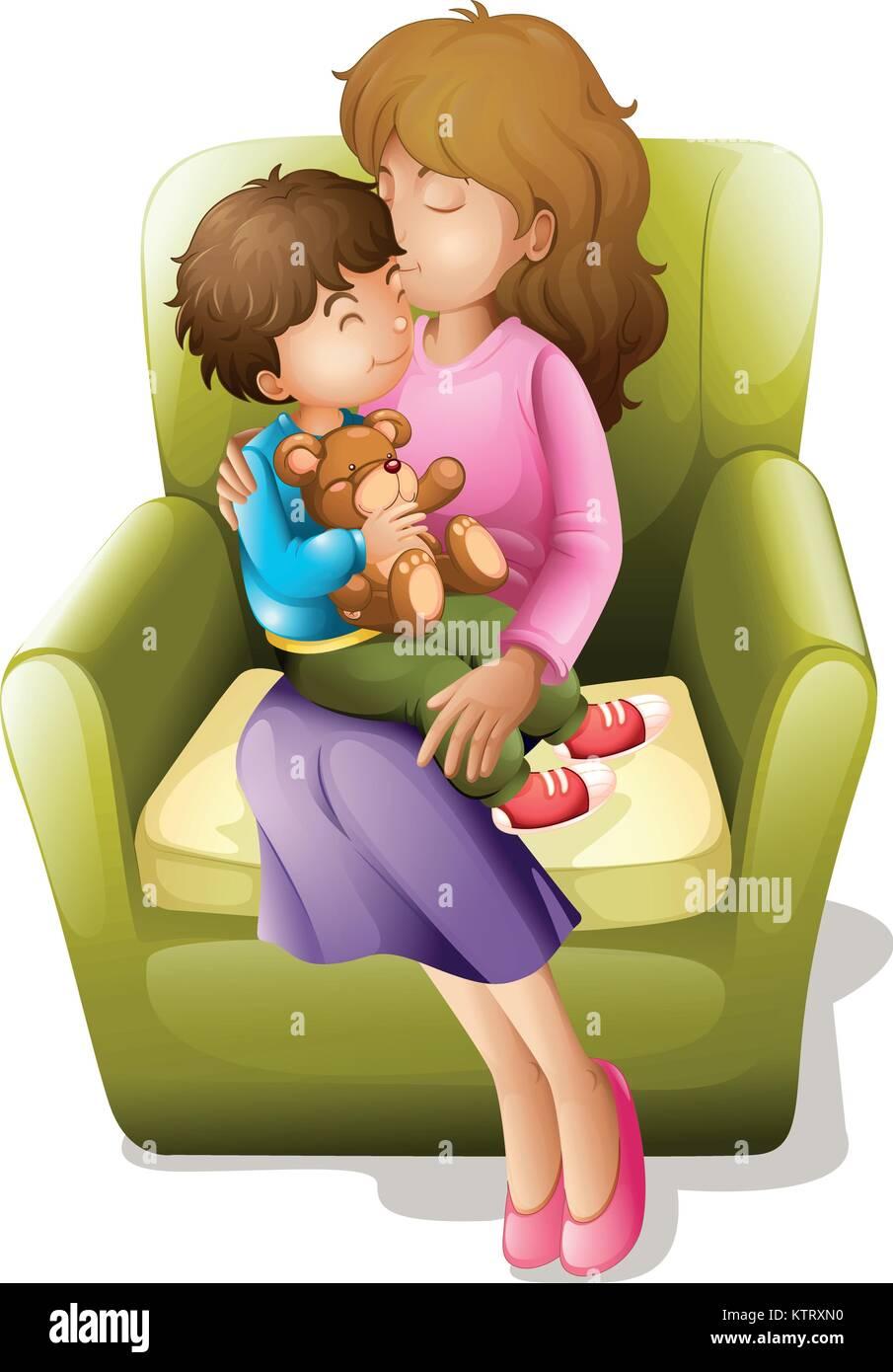 Datieren von Kinderzeichen einer Mama