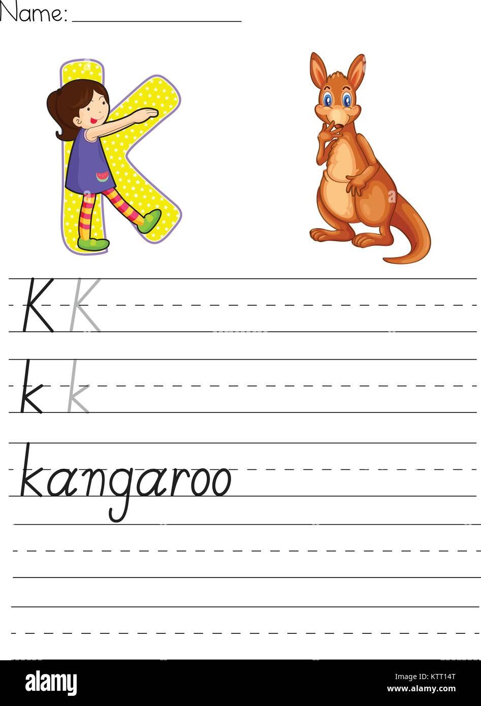 Outstanding Arbeitsblatt Buchstaben K Photo - Kindergarten ...
