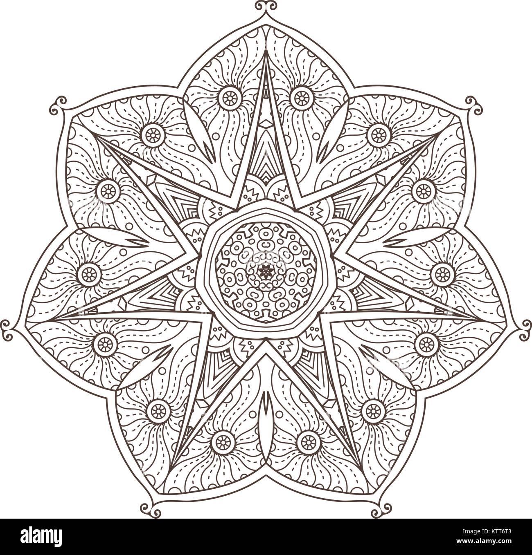 Mandala. Abstrakte dekorativen Hintergrund. Islam, Arabisch ...
