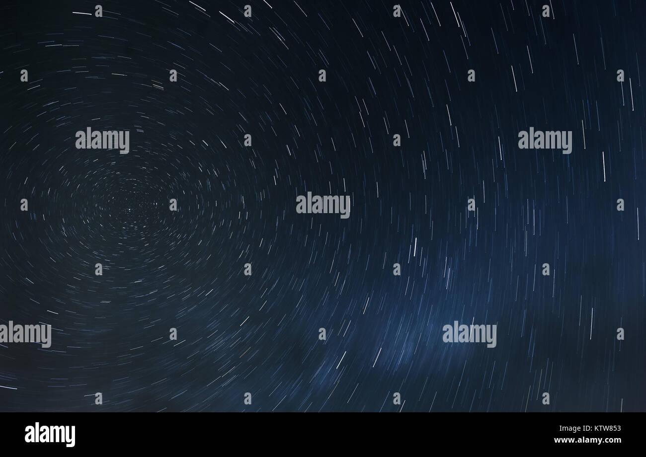 Die Rotation der Sterne um die North Star Stockbild
