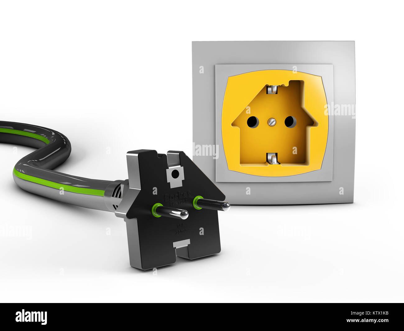 Plug And Socket Icon Stockfotos & Plug And Socket Icon Bilder - Alamy