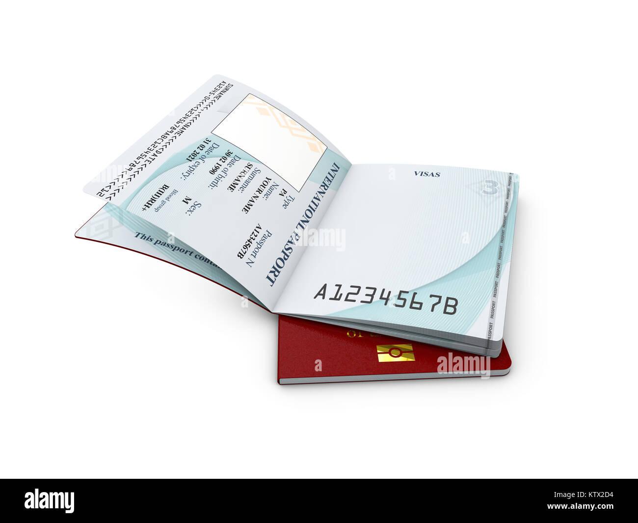Passport Page Blank Stockfotos & Passport Page Blank Bilder - Alamy