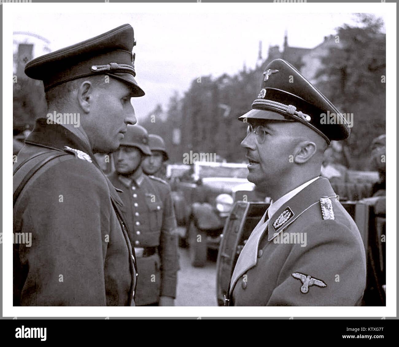 WW2 Leiter Der SS Heinrich Himmler (rechts), Eine Der